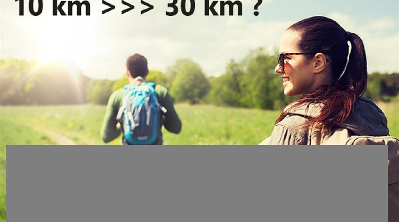 REPONSE POSITIVE   pour 10 km   >>>>   30 Km ......